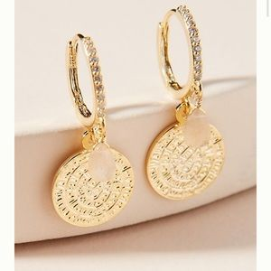 Anthro Lucia Huggie Hoop Earrings